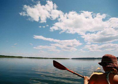 Kajaki na jeziorze Wigry